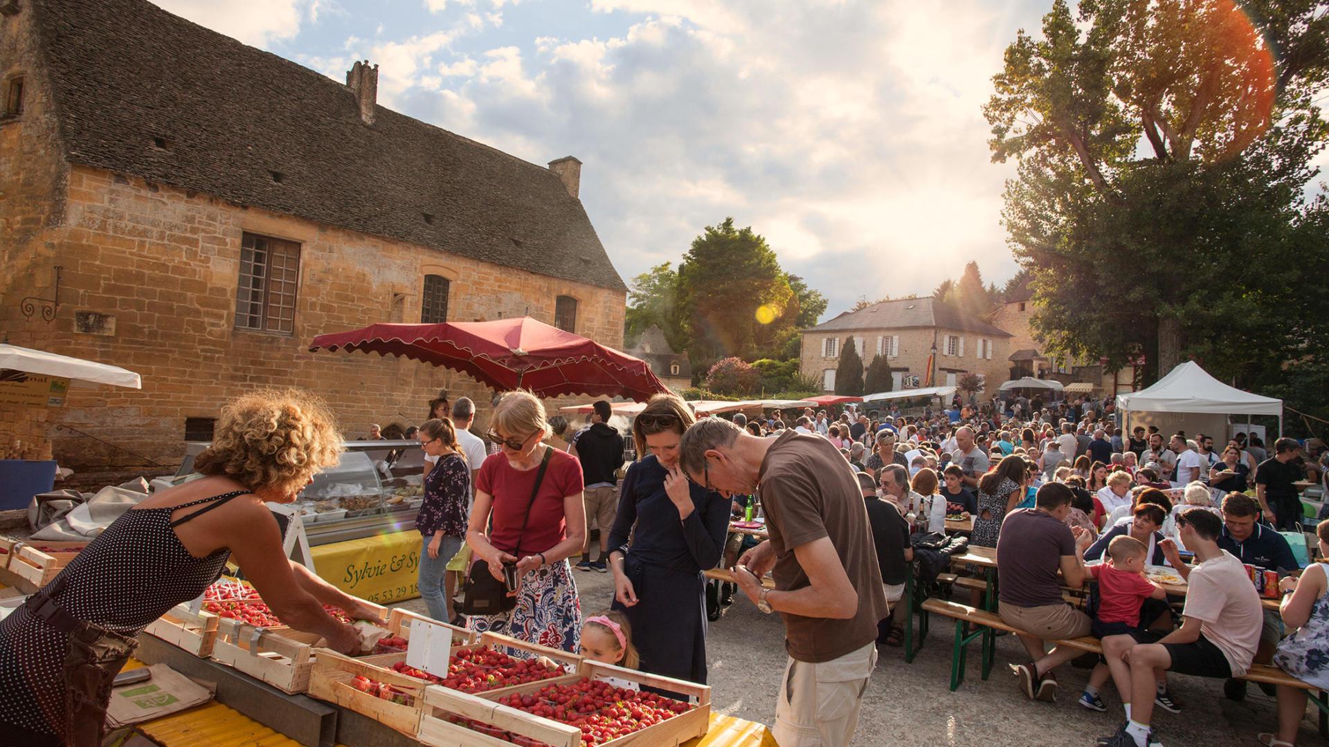 Marchés gourmand du Périgord : Saint-Geniès