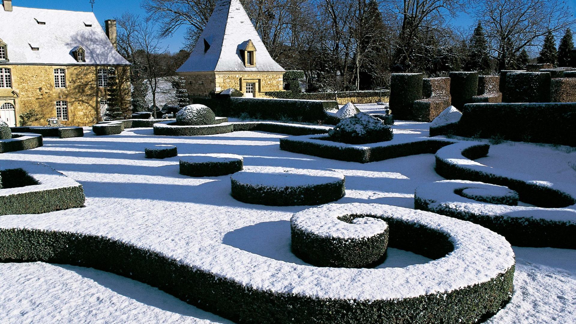 Eyrignac sous la neige
